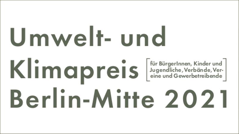 Umwelt- und Klimapreis Berlin-Mitte 2021